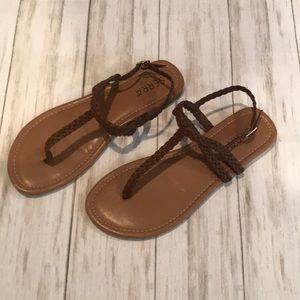 Women's brown strap sandals